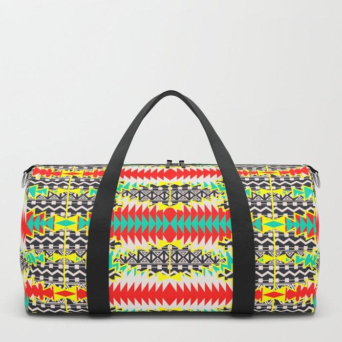 Tribal Beat Geo Neon Duffle Bag