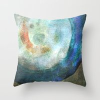 saturn Throw Pillows featuring Saturn by Fernando Vieira