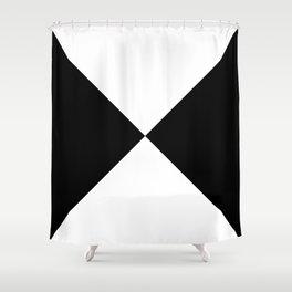 Black & White Triangles Shower Curtain