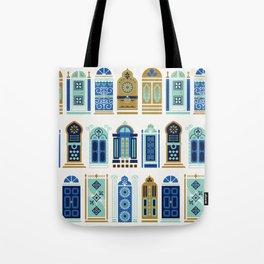 Moroccan Doors – Blue & Gold Palette Tote Bag