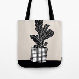 Ficus Lyrata (Black) Tote Bag