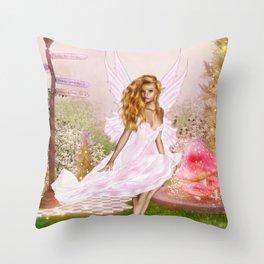 Pink Opal Throw Pillow