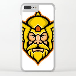 Thor Norse God mascot Clear iPhone Case