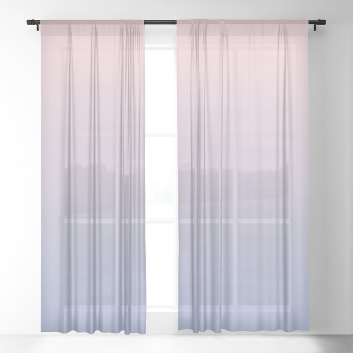 Ombre | Color Gradients | Gradient | Rose Quartz | Serenity | Pantone Colors of the Year 2016 | Sheer Curtain