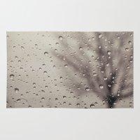 rain Area & Throw Rugs featuring Rain  by Laura Ruth
