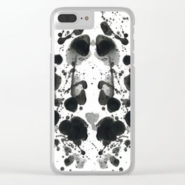 Exhited Ink Clear iPhone Case