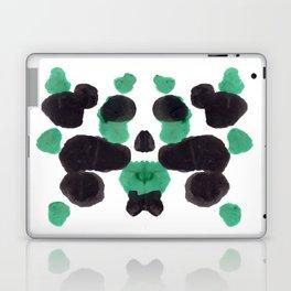 Green & Black Ink Blot Diagram Laptop & iPad Skin