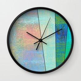 Rainbow Rays Wall Clock
