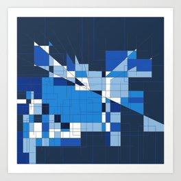 the blue dog Art Print