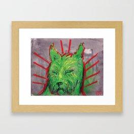 Emerald Westie Framed Art Print