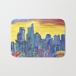 Philadelphia Skyline Bath Mat