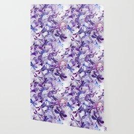 Dragonfly Lullaby in Pantone Ultraviolet Purple Wallpaper