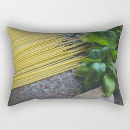 Pasta And Basilicum Rectangular Pillow