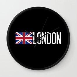 Britain: British Flag & London Wall Clock