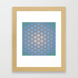 Hexagonal Dreams - Periwinkle/Turquoise gradient Framed Art Print