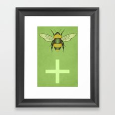 Bee Positive Framed Art Print