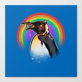 Zombie Penguin Canvas Print