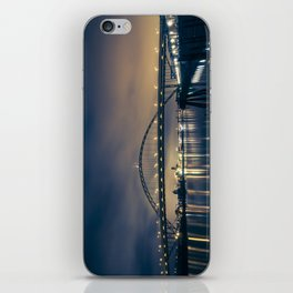 Fremont Bridge at Night iPhone Skin