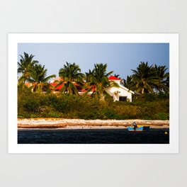 On the Shores of Anguilla Art Print