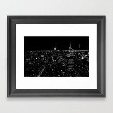 New York by Night Framed Art Print