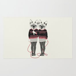 siamese twins Rug