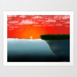 Sunsetting Art Print