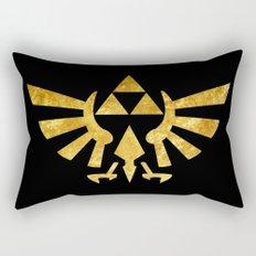 Zelda Golden Hylian Crest Rectangular Pillow