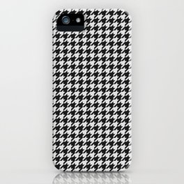 Friendly Houndstooth Pattern, black and white iPhone Case