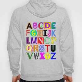 Colorful Alphabet Hoody