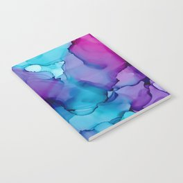Alcohol Ink - Wild Plum & Teal Notebook