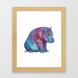 Babypotamus Framed Art Print