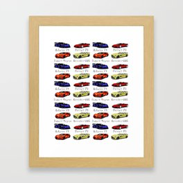 Sports cars Framed Art Print
