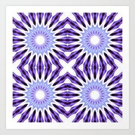 Pinwheel Flowers Violet Purple Art Print