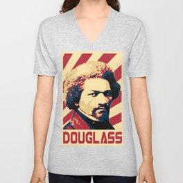 Frederick Douglass Retro Propaganda Unisex V-Neck
