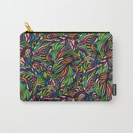 Abstract geometric waves pattern Bright colors Carry-All Pouch