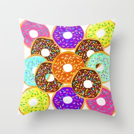 Doughnut Disturb Me When I'm Eating Throw Pillow