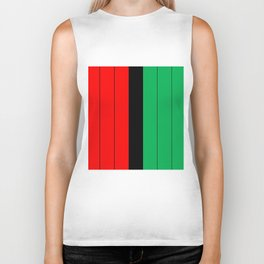 Kwanzaa Red Black Green Stripes Biker Tank