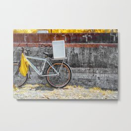 Street Bicycle Metal Print