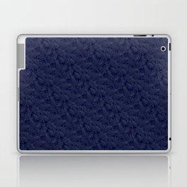 Muted '90s Fern Background Grid at Dusk – Deep Blue Laptop & iPad Skin