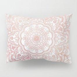 Queen Starring of Mandala-White Marble Pillow Sham