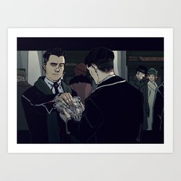 Fantastic Beasts - Giving out pamphlets Art Print