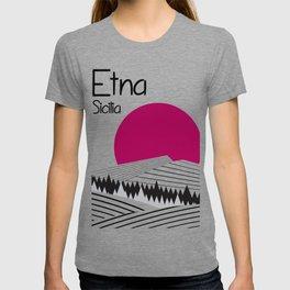 Etna Travelposter T-shirt