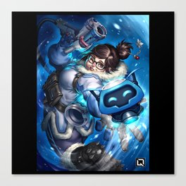 over mei watch Canvas Print