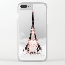 pariS Black & White + Pink Clear iPhone Case