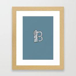 Letter B Framed Art Print