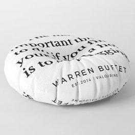 6   | Warren Buffett Quotes | 190823 Floor Pillow