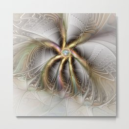 Wall Decor, Abstract Fractal Art Metal Print