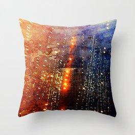 Fire Showers Throw Pillow