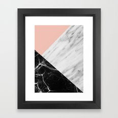 Marble Collage Framed Art Print