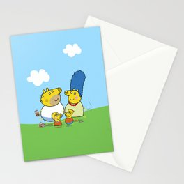 The Peppa Simpson Family Stationery Cards